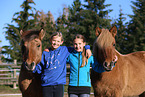 girls with Icelandic horses